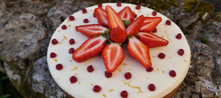 Tarte aux fraises et à la fleur d'oranger
