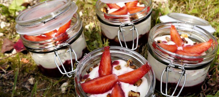 Kosmik fraises ganache montée chocolat blanc