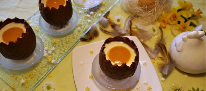 Oeufs chocolat surprise panna cotta coco mangue