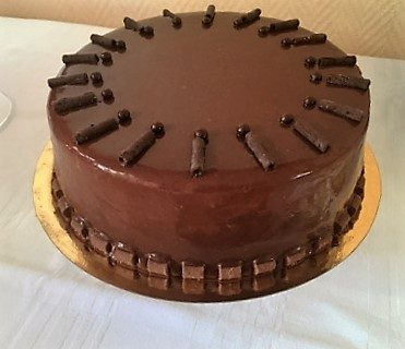 Entremet chocolat poire et caramel