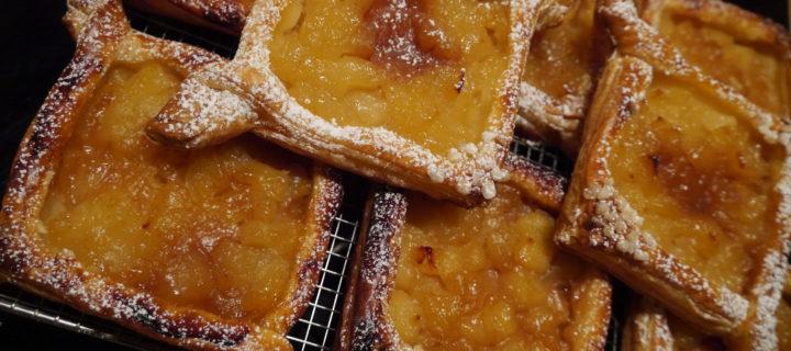 Feuilletés aux pommes et caramel beurre salé