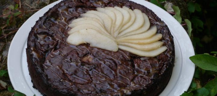 Gâteau invisible Poires chocolat et caramel