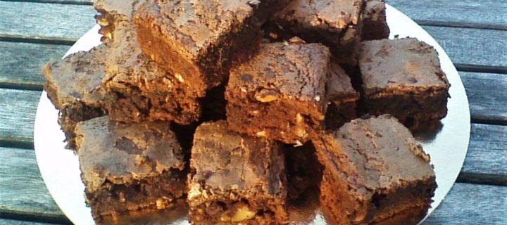 Brownie chocolat amandes, noix et noisettes caraméliées