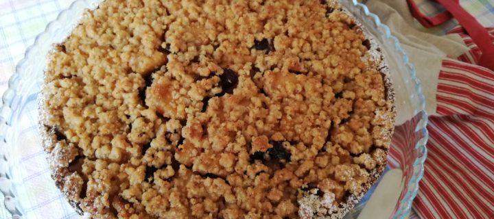 Tarte crumble noisette pomme et cranberries